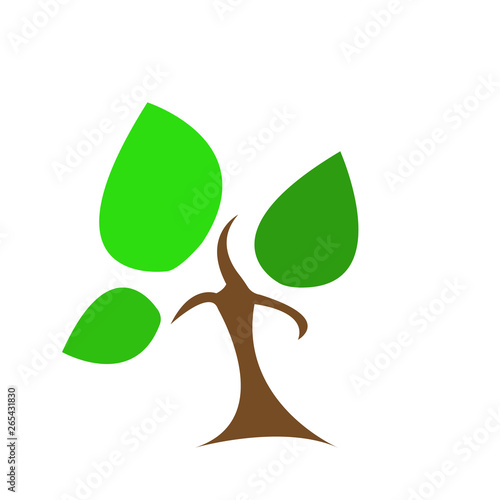 Cartoon Natural Logo Brown Tree With Three Branches And Green Large Leaves Concept Of Gardening And Environment Buy This Stock Vector And Explore Similar Vectors At Adobe Stock Adobe Stock One a little less, the other more. cartoon natural logo brown tree with