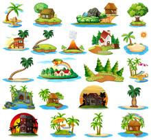 Set Of Nature Island