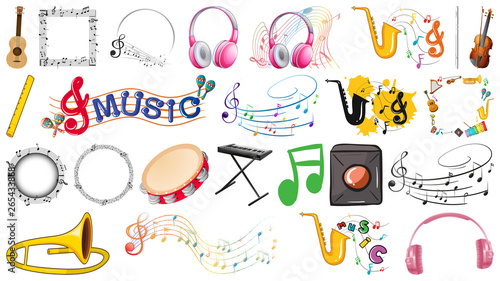 Poster Kids set of musical instruments