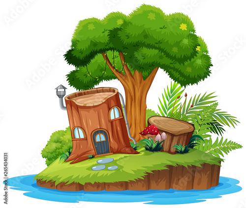 Wall Murals Kids A nature tree island