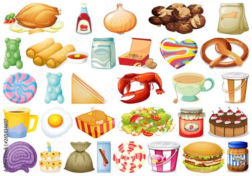 Door stickers Kids set of different foods
