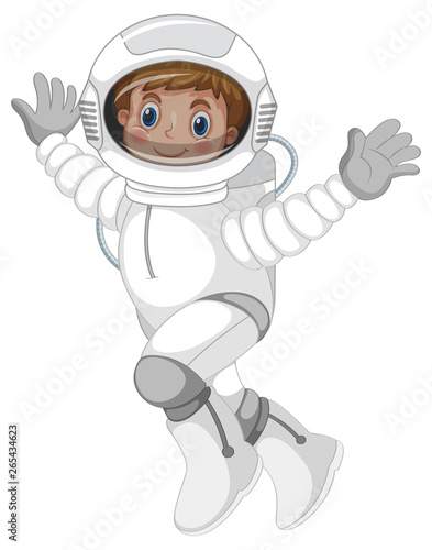In de dag Kids An astronaut character on white background