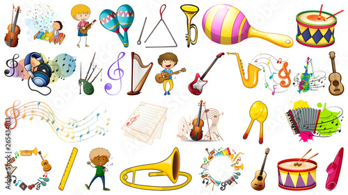 In de dag Kids Set of music instament