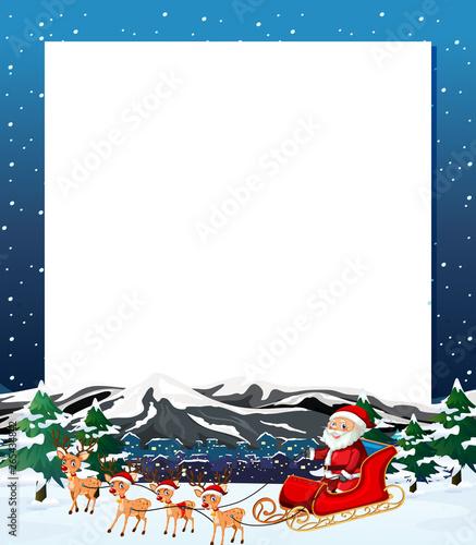 In de dag Kids Santa christmas winter frame