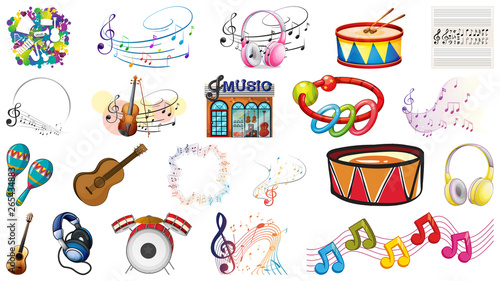 In de dag Kids Set of music tools