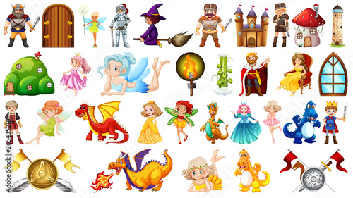 Canvas Prints Kids Set of fantasy character