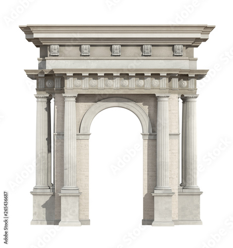 Canvas-taulu Portal in neoclassical style isolated on white