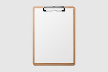 Mockup Of Wooden Clipboard Wit...