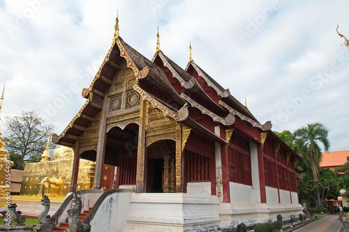 Northern Thailand temple Canvas Print