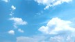 the movement of white clouds in the blue sky with the speed of the video editing process