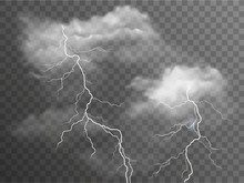 Vector Realistic Stormy Clouds...