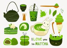 Various Matcha Tea Products. M...