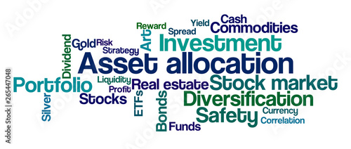 Photo Word Cloud on a white background - Asset Allocation