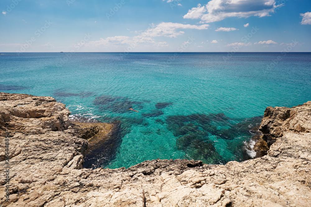 Fototapeta Krajobraz nadmorski w piękny słoneczny dzień