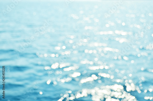 Poster Zee / Oceaan Blurred blue sea water for background, nature background concept. - Image
