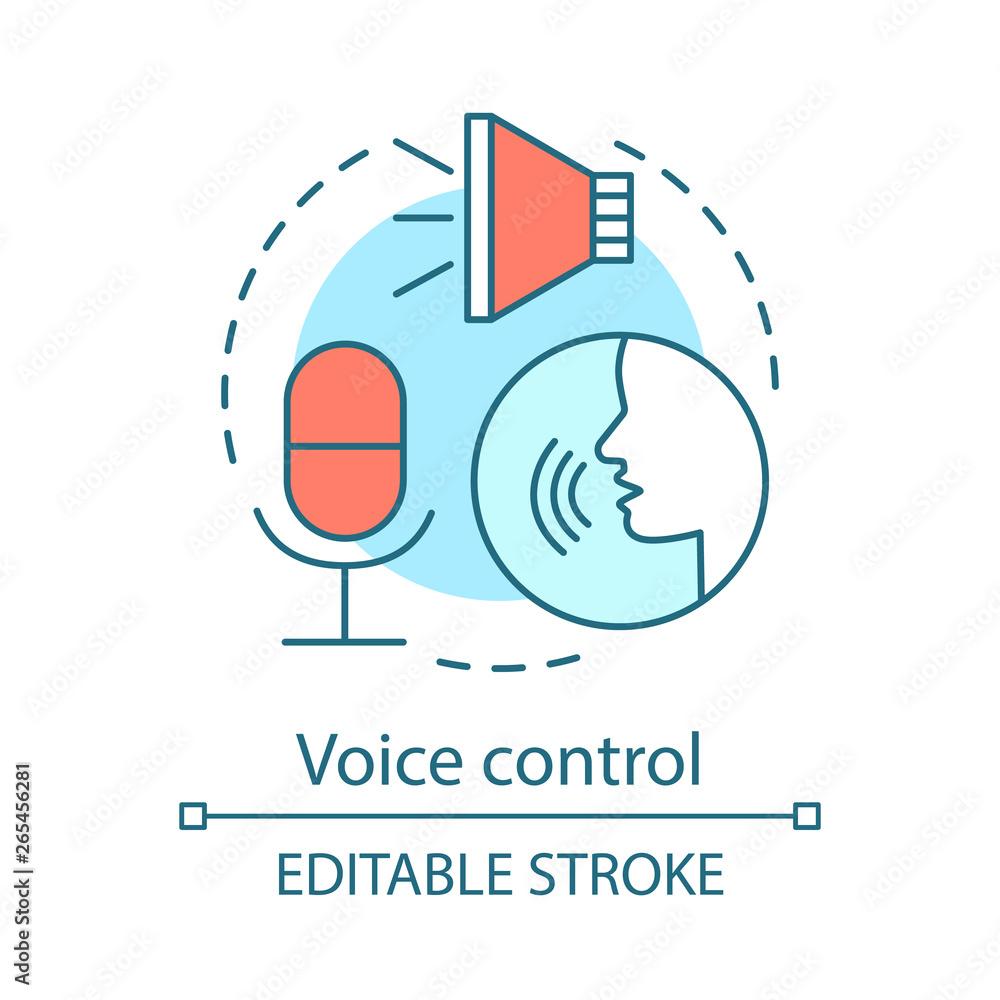 Fototapeta Voice control concept icon