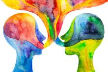 Disegno Grafico Dialogo Tra Due Persone