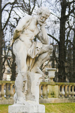 Statue Of Marius On The Ruins Of Carthage In The Jardin De Luxembourg, Paris, France