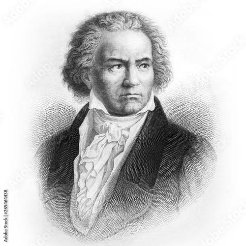 Photo Ludwig van Beethoven, German composer and pianist