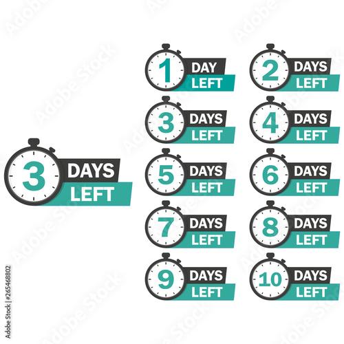 number of days left modern memphis style banner Fototapete