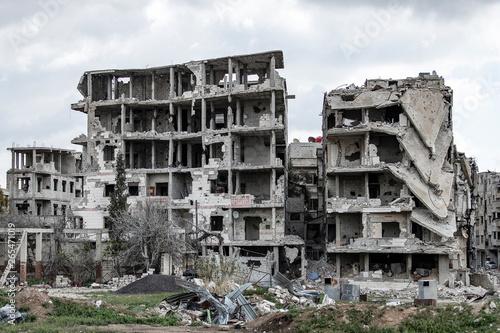 Fototapeta  la ville  Alep en syrie après sa destruction