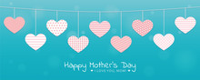 Turquoise Mothers Day Greeting...