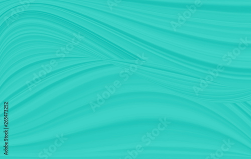 A wave pattern of white and blue. The background is turquoise with streaks and curved lines. - 265473252