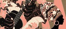 Illustration Of Brazilian Samba Music Culture