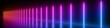 canvas print picture - 3d render, abstract panoramic background, glowing vertical lines, neon lights, ultraviolet spectrum, virtual reality, laser show