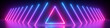 canvas print picture 3d render, abstract panoramic background, neon light, glowing lines, triangle shape symbol, ultraviolet spectrum, virtual reality, laser show