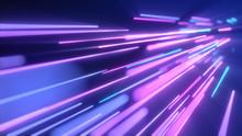 Neon Pink Blue Light Streaks. ...