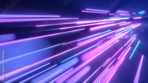 Foto Neon pink blue light streaks