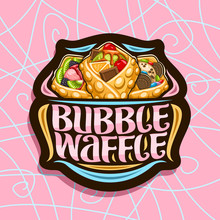 Vector Logo For Bubble Waffle,...