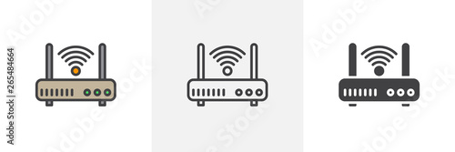 Wifi router icon Wallpaper Mural
