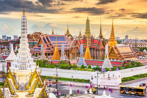 Bangkok, Thailand at the Temple of the Emerald Buddha and Grand Palace