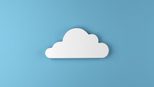 Cute Cloud Background 3d Illus...