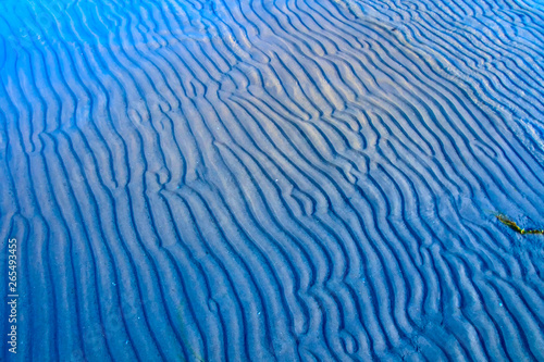 Wave, sand and sea. Nature background. Canvas Print