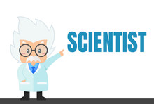 Cartoon Scientist In The Lab A...