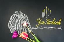 Chalk Inscription Yom HaShoah ...