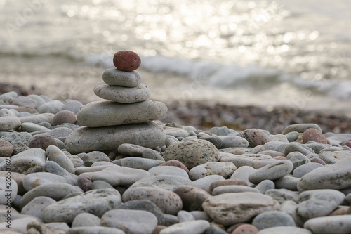 Photo  Stones by the sea, Gotland Sweden.