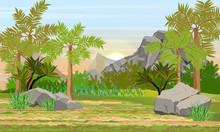 Prehistoric Forest. Giant Fern...
