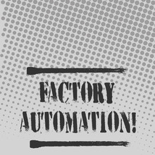 Text Sign Showing Factory Auto...