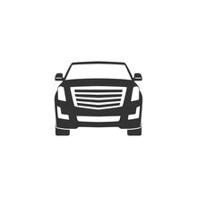 SUV Car Icon In Simple Design. Vector Illustration