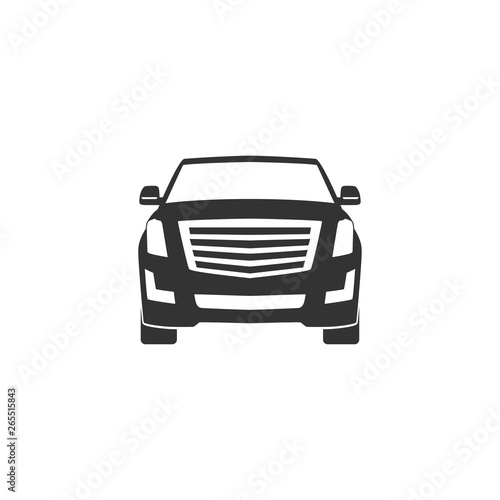 Obraz na plátne SUV car icon in simple design. Vector illustration