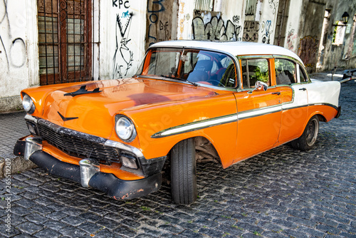 Poster Havana Vintage car, Colonia de Sacremento, Uruguay