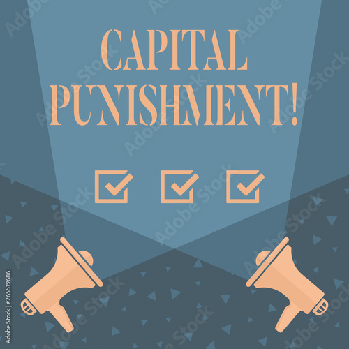 Photo Writing note showing Capital Punishment
