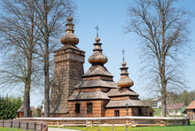 Wooden Church In  Kwiaton Poland
