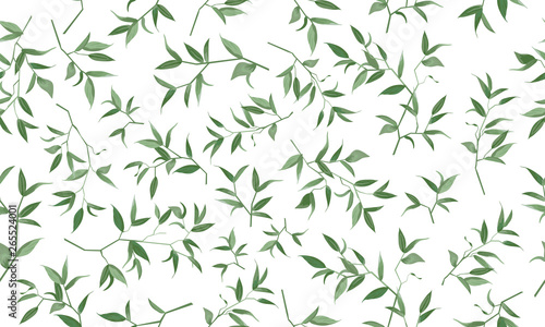 mata magnetyczna Beautiful pattern seamless of foliage natural branches rustic pattern, watercolor style. Vector decorative beautiful cute elegant illustration isolated white background