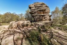 Brimham Rocks, In North Yorkshire, In  April 2019