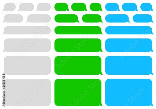 Cuadros en Lienzo  Speech bubbles message. SMS. Chat. Vector